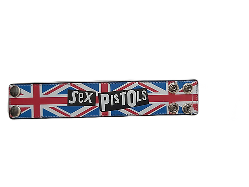 Sex Pistols - Leather Wristband