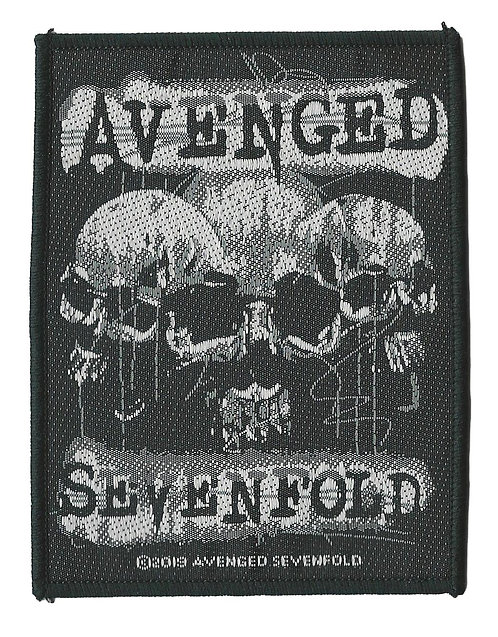 Avenged Sevenfold - 3 Skulls Woven Patch