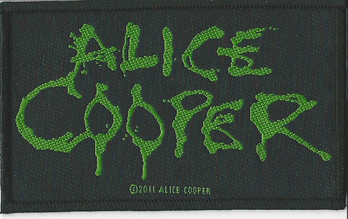 Alice Cooper - Green Logo Woven Patch