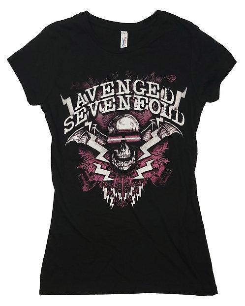 Avenged Sevenfold - Sunglasses Deathbat Ladies Tee