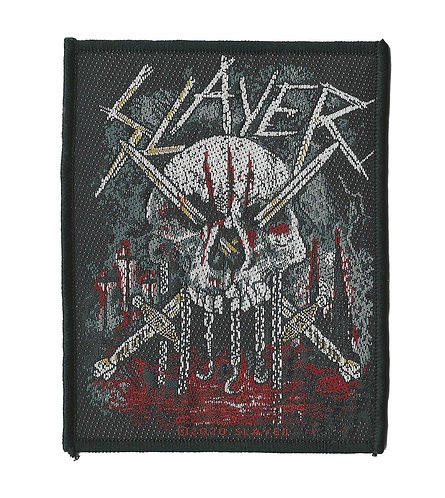 Slayer - Skull & Swords Woven Patch