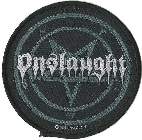Onslaught - Pentagram Logo Woven Patch