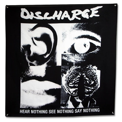 Discharge - Hear Nothing Flag