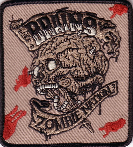 The Brains - Zombie Nation Embroidered Patch