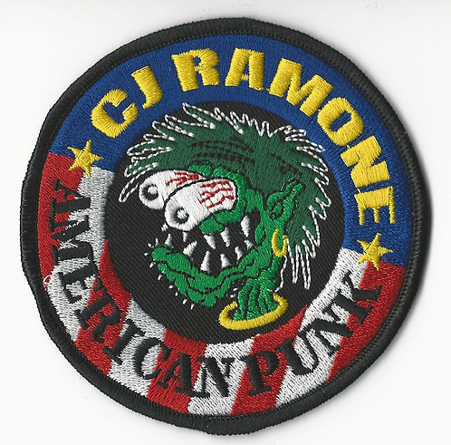 CJ Ramone - American Punk Finger Embroidered Patch