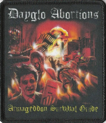 Dayglo Abortions - Armageddon Survival Guide Sublimation Patch Patch