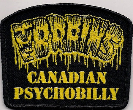 The Brains - Canadian Psychobilly Yellow Embroidered Patch