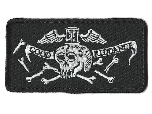 Good Riddance - Toothy Skull Embroidered Patch