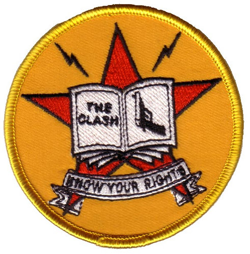The Clash - Know Your Rights Embroidered Patch