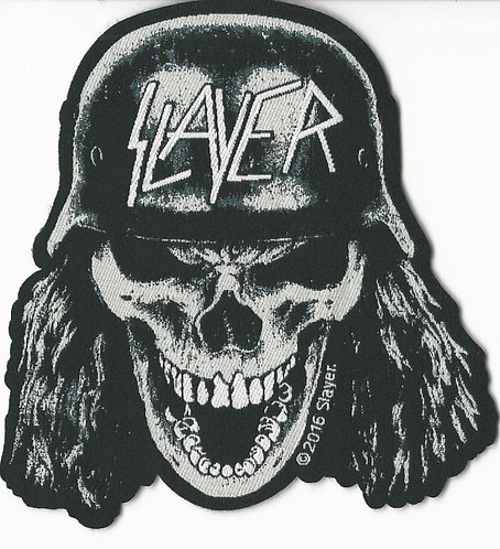 Slayer - Wehrmacht Skull Woven Patch