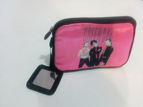 Green Day - Band Portrait Pink Cosmetic Bag