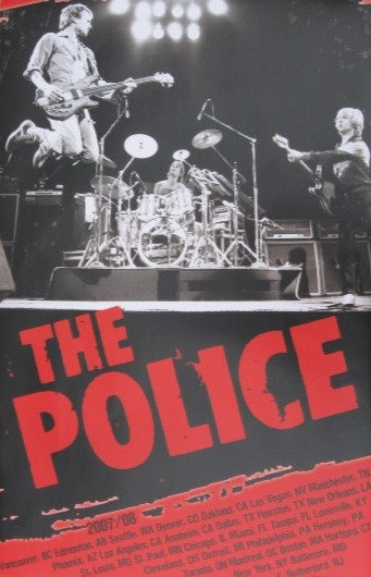 The Police - 2007-08 Tour Poster