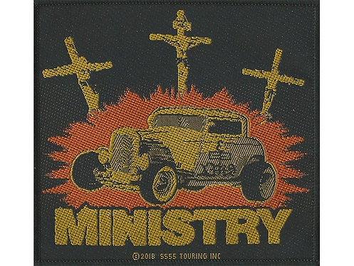 Ministry - Jesus Built My Hotrod Woven Patch