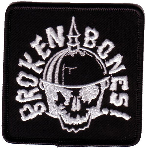 Broken Bones - Helmet Skull Embroidered Patch
