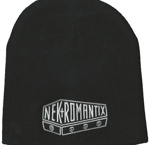 Nekromantix - Coffin Logo Embroidered Beanie