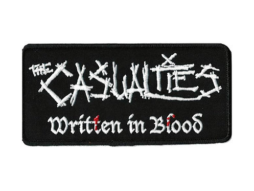 The Casualties - Written In Blood Namebar Embroidered Patch
