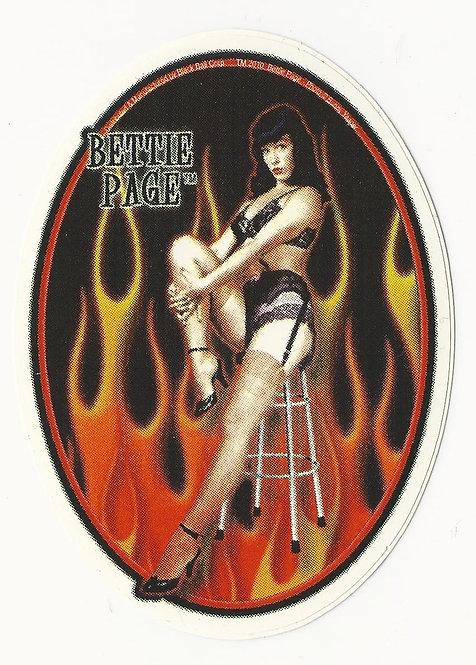Bettie Page - Flame Sticker