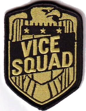 Vice Squad - Shield Gold Embroidered Patch
