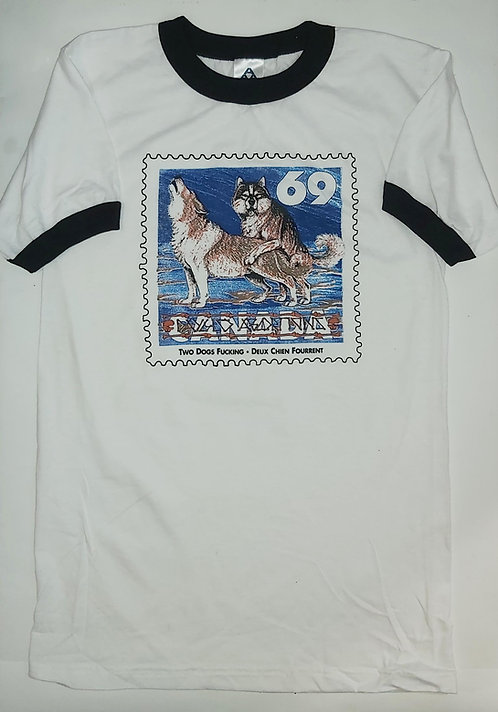 Dayglo Abortions - 2 Dogs Fucking Ringer Tee