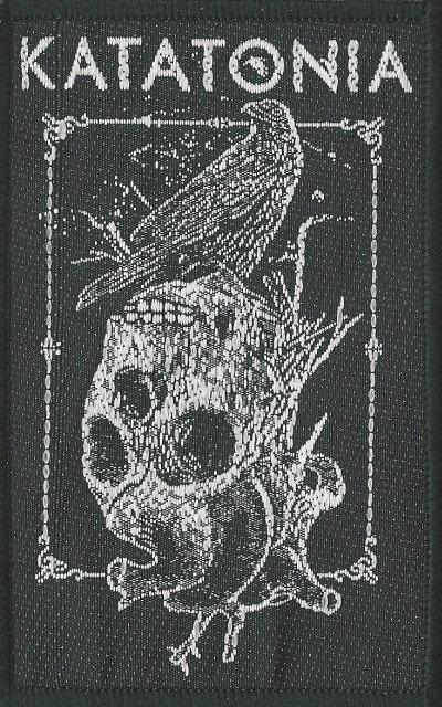 Katatonia - Crow Skull Woven Patch