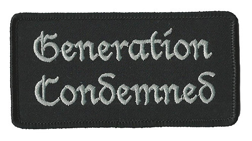 Generation Condemned - Logo Embroidered Patch