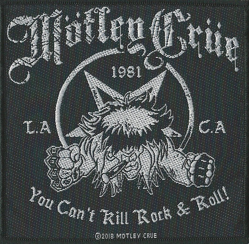 Motley Crue - You Can't Kill Rock n Roll Woven Patch