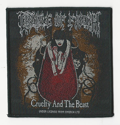 Cradle of Filth - Cruelty and the Beast Woven Patch