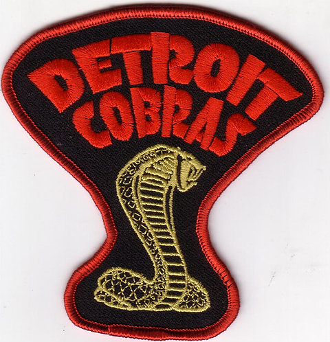 The Detroit Cobras - Cobra Embroidered Patch