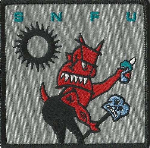 SNFU - Something Green and Leafy this Way Comes Embroidered Patch