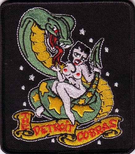 The Detroit Cobras - Cobra Girl Embroidered Patch