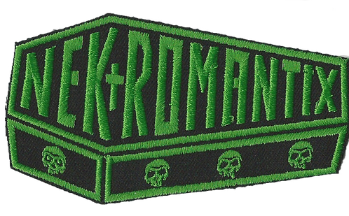 Nekromantix - Coffin Logo Green Embroidered Patch
