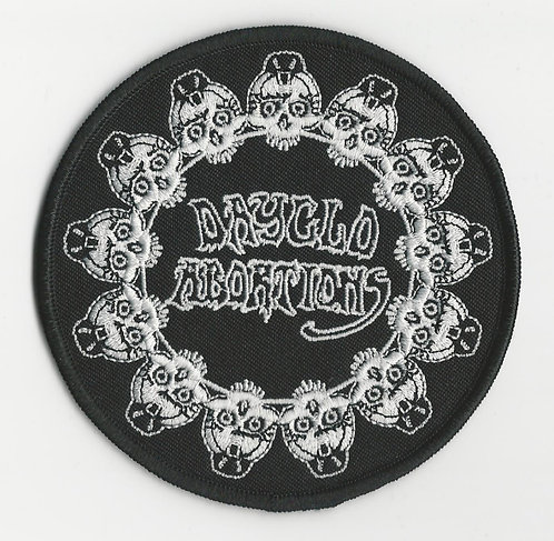 Dayglo Abortions - Circle Of Skulls Embroidered Patch