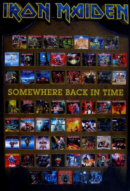Iron Maiden - Somewhere Back in Time Poster