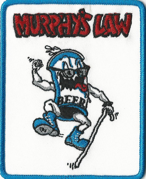 Murphy's Law - Beer Embroidered Patch