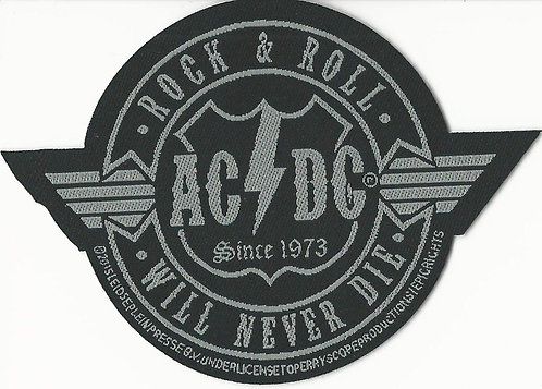 AC/DC - Rock n' Roll Will Never Die Woven Patch
