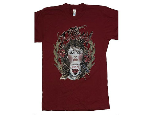 Hellcat and the Prowl - Diamond Girl Red T-Shirt