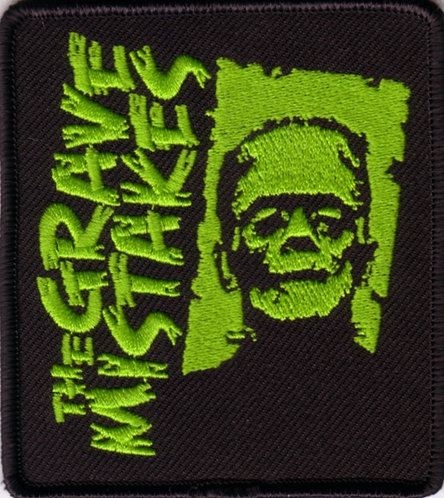 The Grave Mistakes - Green Frankenstein Emboidered Patch