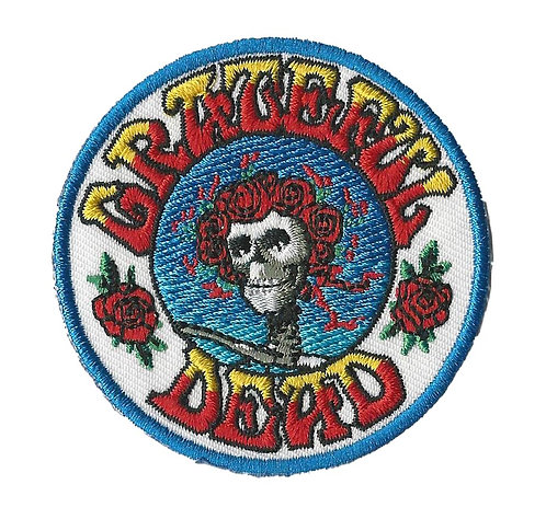 Grateful Dead - Skeleton & Roses Embroidered Patch