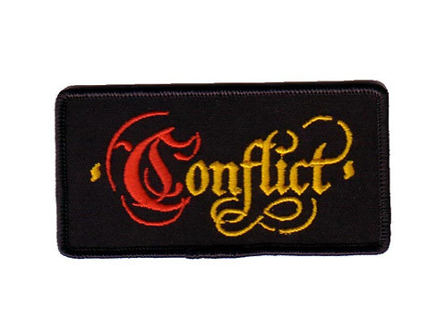 Conflict - Old English Embroidered Patch