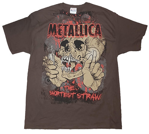 Metallica - The Shortest Straw Total Print T-Shirt
