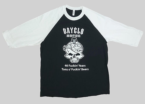 Dayglo Abortions - 40 Years Baseball Tee