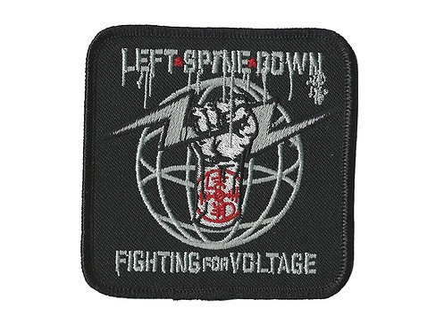 Left Spine Down - Fighting for Voltage Embroidered Patch
