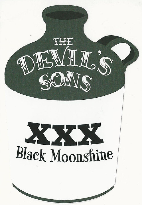 The Devil's Sons - Black Moonshine Jug Sticker