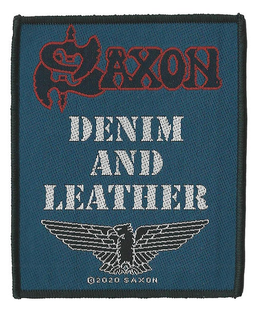 Saxon - Denim and Leather Woven Patch