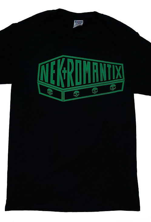 Nekromantix - Green Coffin Logo T-Shirt