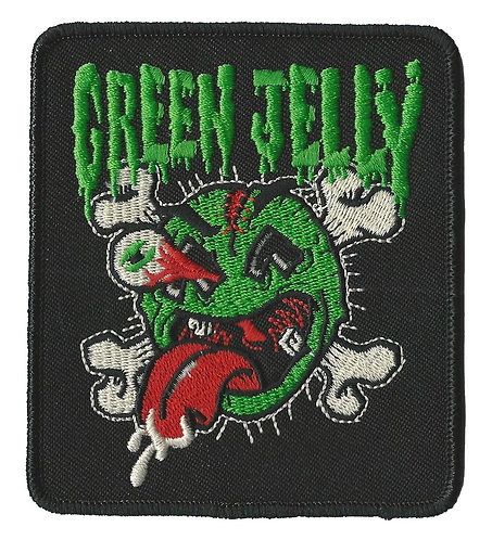 Green Jelly - Jelly & Crossbones Embroidered Patch