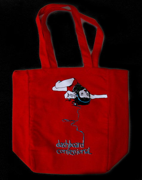 Dashboard Confessional - Headphone Girl Tote Bag
