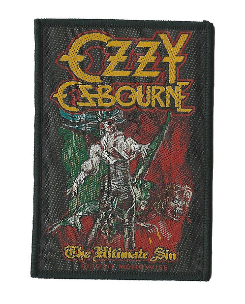 Ozzy Osbourne - The Ultimate Sin Woven Patch