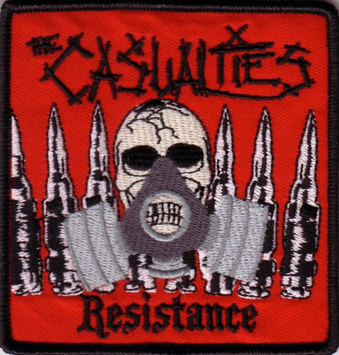 The Casualties - Resistance Gasmask Embroidered Patch