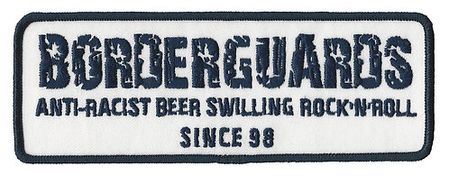 Borderguards - Anti-Racist Blue Embroidered Patch